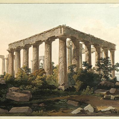 Ο ναός της Αφαίας στην Αίγινα.