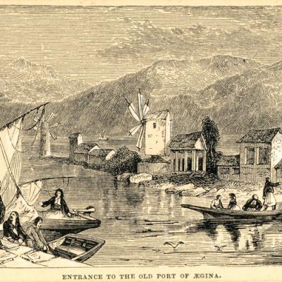 Το παλιό λιμάνι της Αίγινας.
