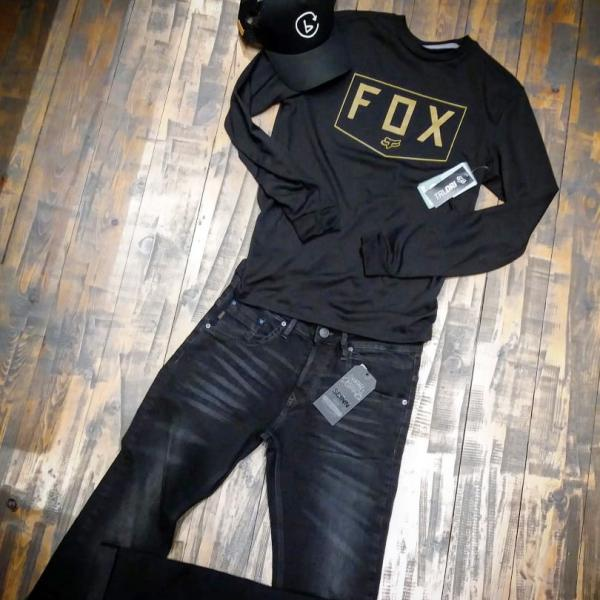 Jean παντελόνι SCINN & long sleeve FOX