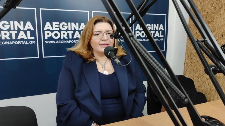 Η πρόεδρος της ΚΕΔΑ κ. Μαίρη Κουκούλη για τις αποκριάτικες εκδηλώσεις στην Αίγινα.